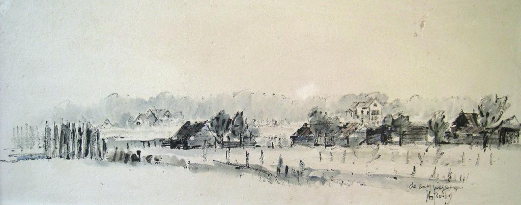 Schilderij Jits Bakker van 'de Dorschkamp' C